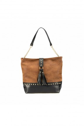 حقيبة يد نسائي مزينة بشراشيب