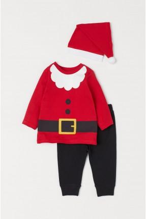 طقم بيبي بناتي موديل بابا نويل