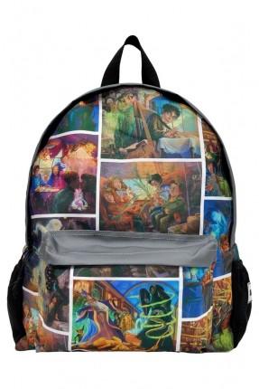 حقيبة ظهر اطفال ولادي مدرسية بطبعة هيري بوتر