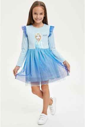 فستان اطفال بناتي برسمة ايلسا