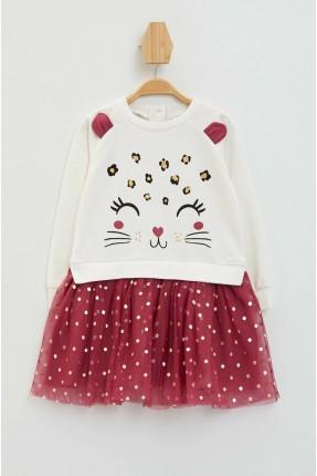 فستان بيبي بناتي برسمة قطة