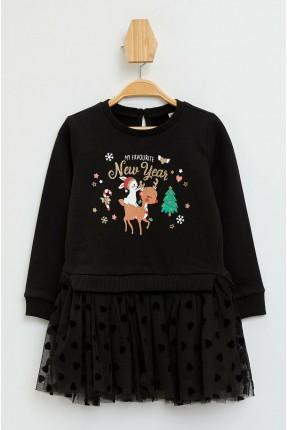 فستان بيبي بناتي بطبعة