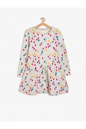 فستان اطفال بناتي منقط بالقلوب