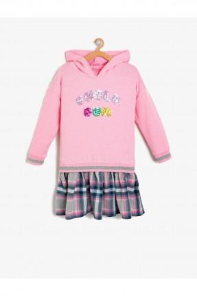 فستان اطفال بناتي بطبعة كتابة