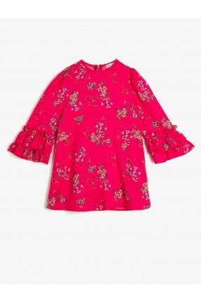 فستان اطفال بناتي بنقشة ورود