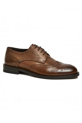 حذاء نسائي جلد بنقشة ثقوب