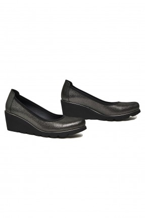 حذاء نسائي جلد بكعب سابو