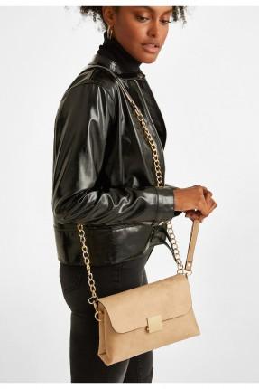 حقيبة يد نسائية بقفل معدني