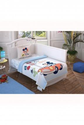 طقم بطانية سرير بيبي ولادي بطبعة ميكي ماوس