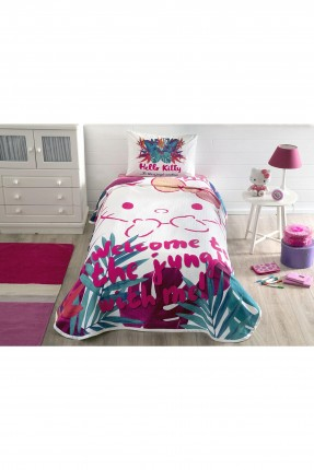 طقم بطانية سرير اطفال بناتي بطبعة هالو كيتي