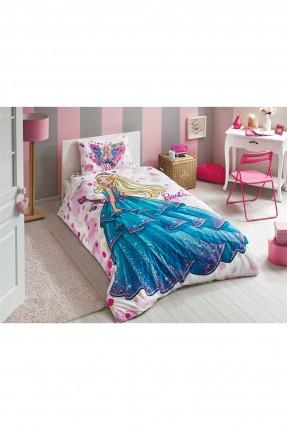 طقم غطاء سرير اطفال مزين برسمة باربي
