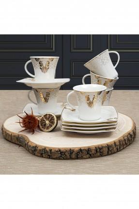 طقم فنجان قهوة / 6شخص - 12 قطعة /