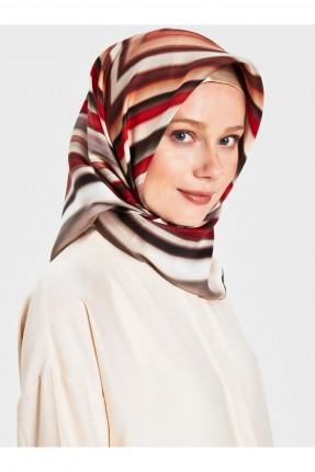 حجاب تركي بخطوط ملونة
