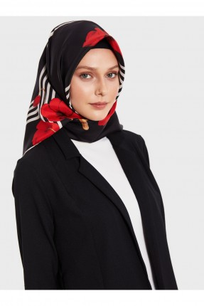 حجاب تركي بطبعة ورود