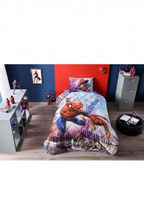 طقم لحاف سرير اطفال ولادي بطبعة سبايدرمان