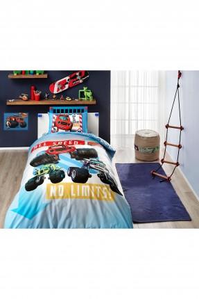 طقم غطاء سرير اطفال ولادي بطبعة سيارات