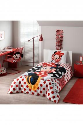طقم غطاء سرير اطفال بناتي بطبعة ميني ماوس