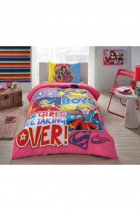 طقم غطاء سرير اطفال بناتي بطبعة فتيات القوة