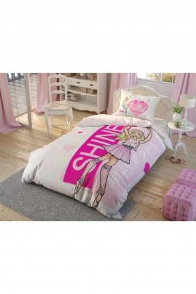 طقم غطاء سرير اطفال بناتي بطبعة باربي