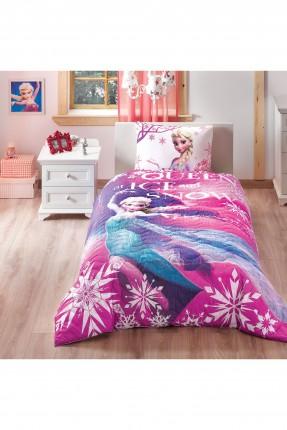 طقم غطاء سرير اطفال بناتي بطبعة السا