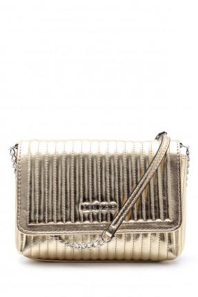 حقيبة يد نسائية بخطوط درزة