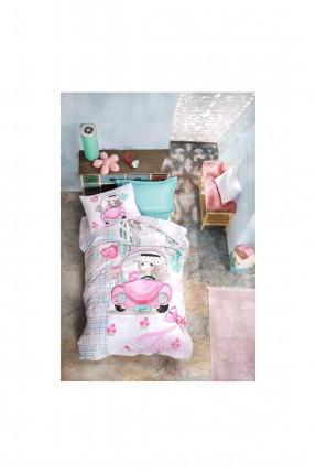 طقم غطاء سرير اطفال بناتي بطبعة