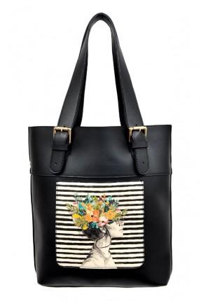 حقيبة يد نسائية بطبعة