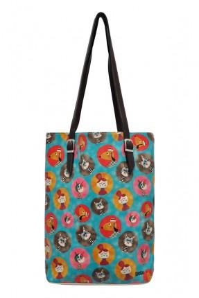 حقيبة يد نسائية بطبعة قطط