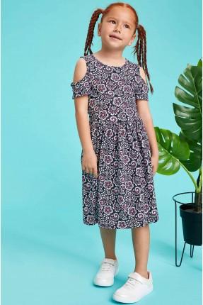 فستان اطفال بناتي بزخرفة نباتية