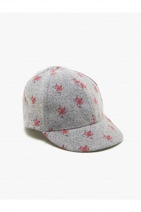 قبعة بيبي بناتي بنقشة ورود
