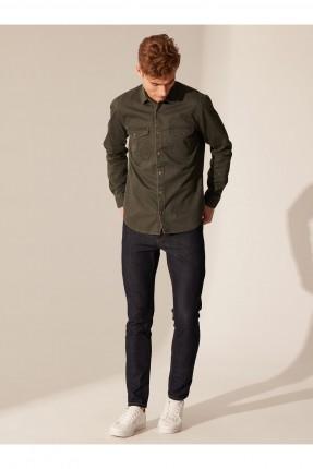 قميص جينز رجالي سليم فيت