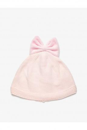 قبعة بيبي بناتي مزينة بفيونكة