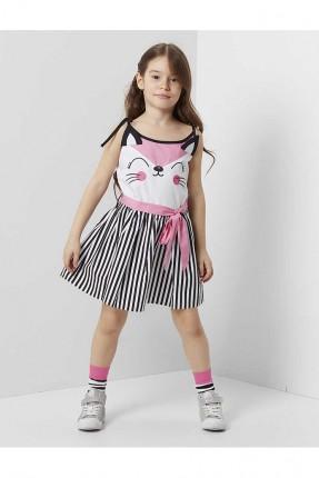 فستان اطفال بناتي مخطط