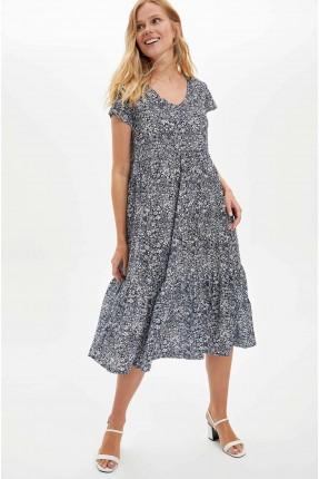 فستان سبور صف كم بطبعة ازهار