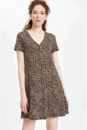 فستان سبور بلون جلد الفهد