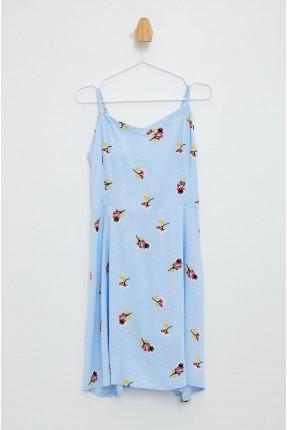 فستان سبور بشيالات وطبعة ازهار