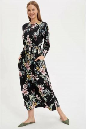 فستان سبور بطبعة ازهار