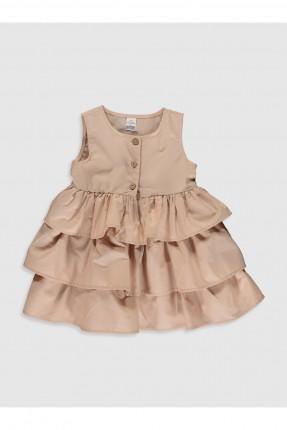 فستان بيبي بناتي مزين بكشكش