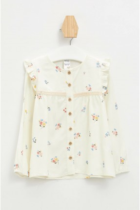 قميص بيبي بناتي بنقشة