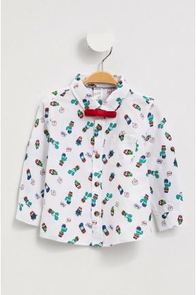 قميص بيبي ولادي بنقشة