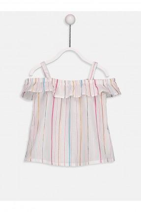 بلوز بيبي بناتي بخطوط ملونة