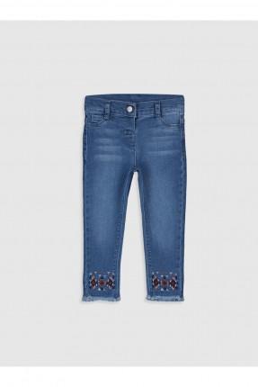 بنطال جينز بيبي بناتي بتطريز ملون