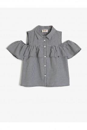 قميص اطفال بناتي متساقط الاكتاف