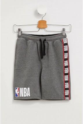 شورت رياضة اطفال ولادي بطبعة NBA