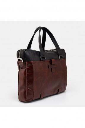حقيبة يد رجالية جلد بلونين