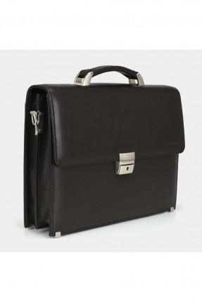 حقيبة يد رجالية جلد بقفل معدني