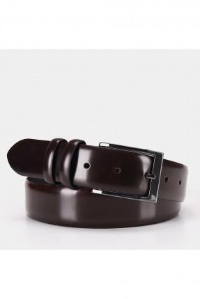 حزام رجالي جلد ذو لمعة