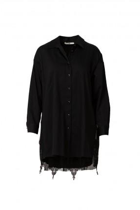 قميص نسائي مزين بالتول