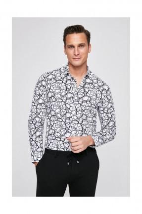 قميص رجالي بنقشة