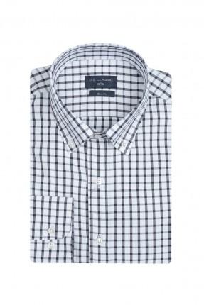 قميص رجالي بنقشة مربعات
